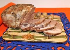 Готовая буженина в мультиварке из свинины