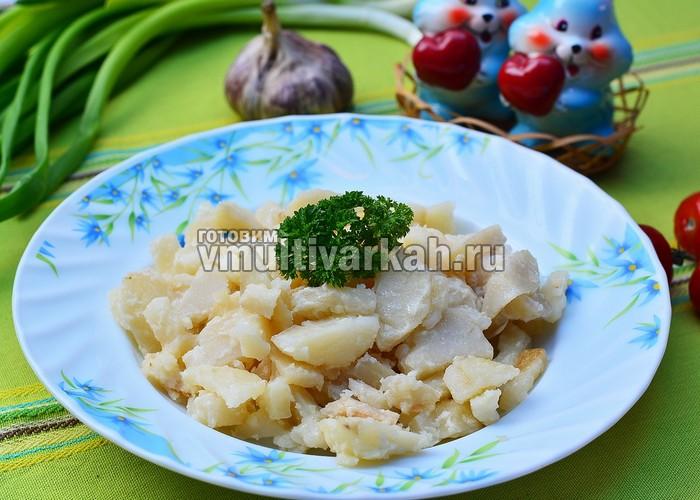 картошка в сметане в мультиварке