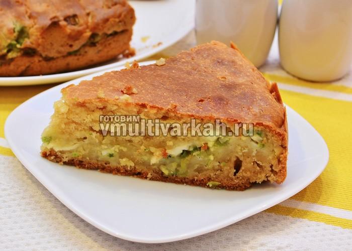 Пирог с яйцом и луком в мультиварке