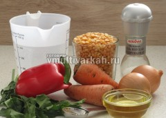 Подготовьте ингредиенты для гороховой каши