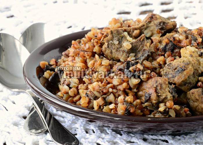 как приготовить гречку с мясом в мультиварке