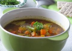 Подавайте суп с зеленью