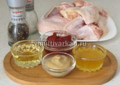 Подготовьте ингредиенты для запеченных крылышек