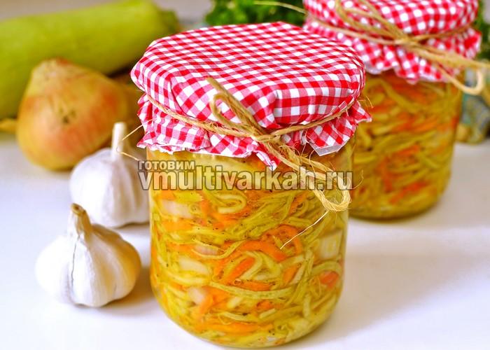 Салат из кабачков в мультиварке