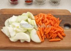Измельчите овощи