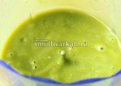 Перебейте овощи в пюре