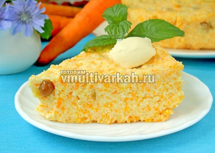 Творожно-морковная запеканка в мультиварке