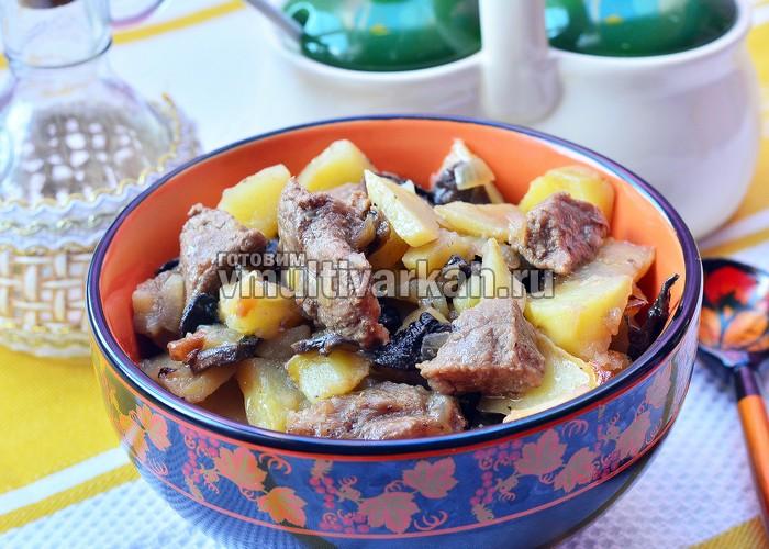 жаркое из говядины с картофелем в мультиварке
