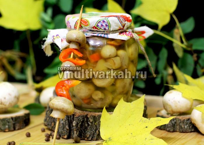 грибы в мультиварке на зиму
