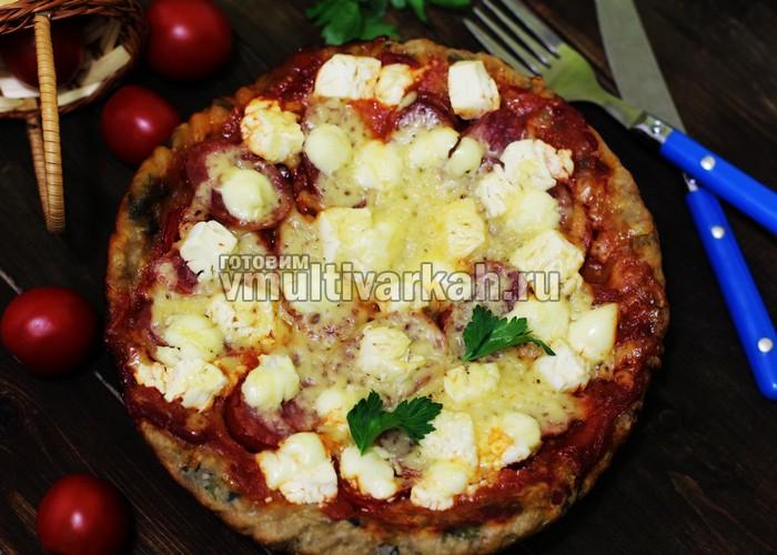 Пицца в мультиварке с салями