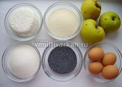 Подготовьте ингредиенты, мак залейте кипятком на 20-30 минут
