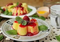 Украсьте ягодами малины и мятой