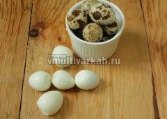Отвариваю перепелиные яйца