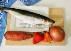 Подготовьте рыбу и овощи