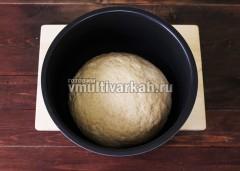 Проверьте, как подошло тесто, включите режим выпечка 40 минут