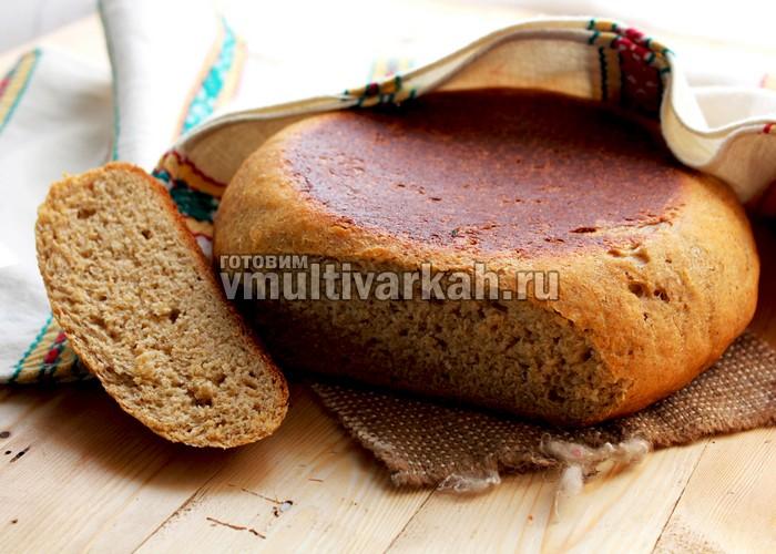 серый хлеб в мультиварке