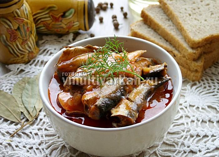 Килька в томатном соусе в мультиварке