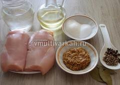 Подготовить ингредиенты, филе отделить от кости