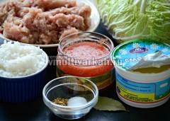 Подготовьте ингредиенты для голубцов
