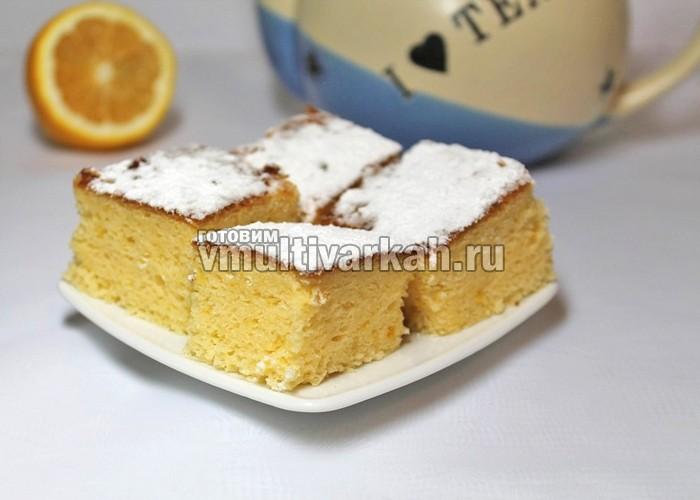 лимонный бисквит в мультиварке
