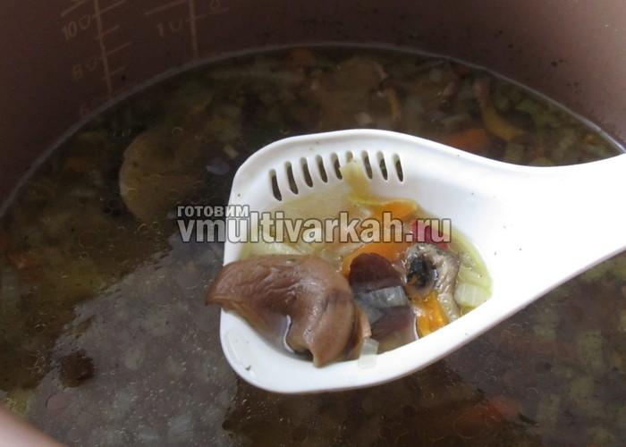 рецепт суп с грибами в мультиварке фото