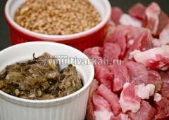Подготовьте ингредиенты для гречки