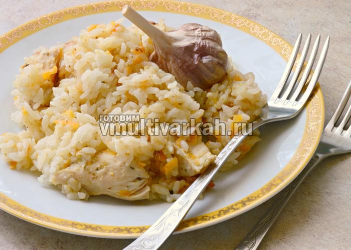 вкусный плов из курицы в мультиварке рецепт с фото
