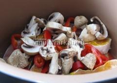 По желанию добавьте грибы
