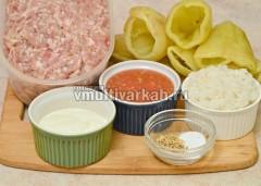 Подготовьте все ингредиенты согласно инструкции