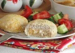 Подавайте с овощным салатом