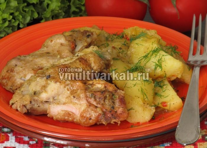 Куриные крылышки в мультиварке с картошкой в мультиварке рецепты