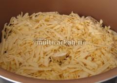 Посыпьте тертым сыром