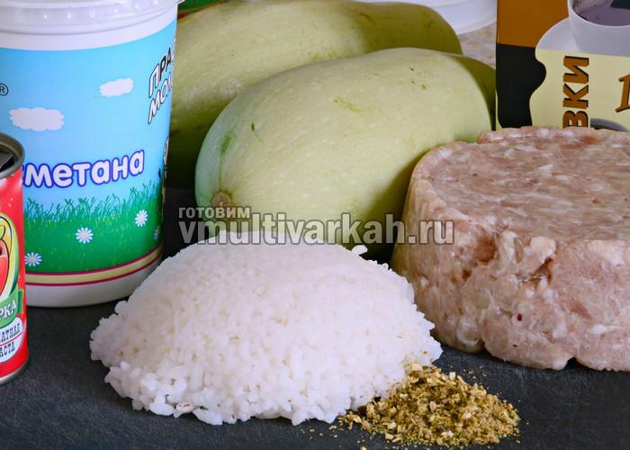 Рецепт кабачок с фаршем в духовке с фото