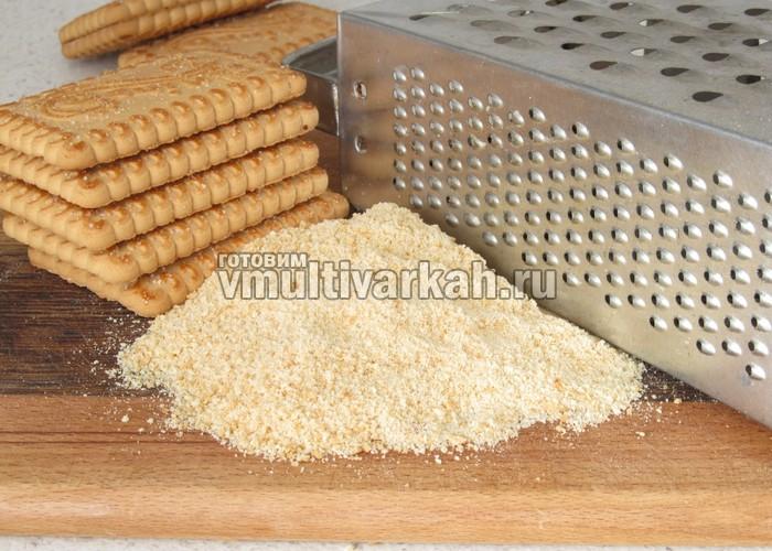 рецепт чизкейка в мультиварке с печеньем