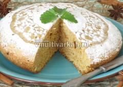Полностью остывший пирог посыпьте пудрой