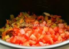 Затем добавить помидоры