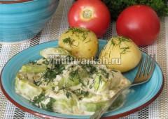 Такие кабачки вкусно кушать с помидорами и молодой картошкой