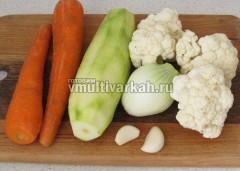 Очистите овощи