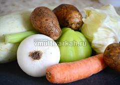 Подготовьте все овощи для запеканки