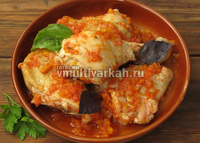 курица в томатном соусе в мультиварке