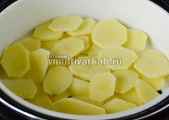 В пароварку сначала выложите картофель