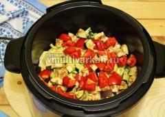 Баклажаны и помидоры