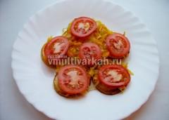 Затем помидоры