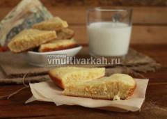 Подавайте порционно с чаем или молоком