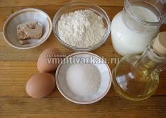 Подготовьте продукты для теста
