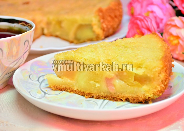 Английский пирог с яблоками в мультиварке
