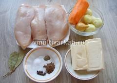 Подготовьте продукты для паштета