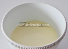 Остывший желатин добавить к сметане со сгущенкой