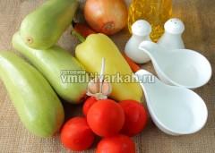Подготовьте ингредиенты для кабачковой икры