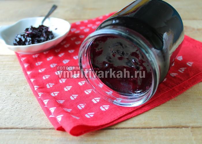 Желе из черной смородины в мультиварке на зиму